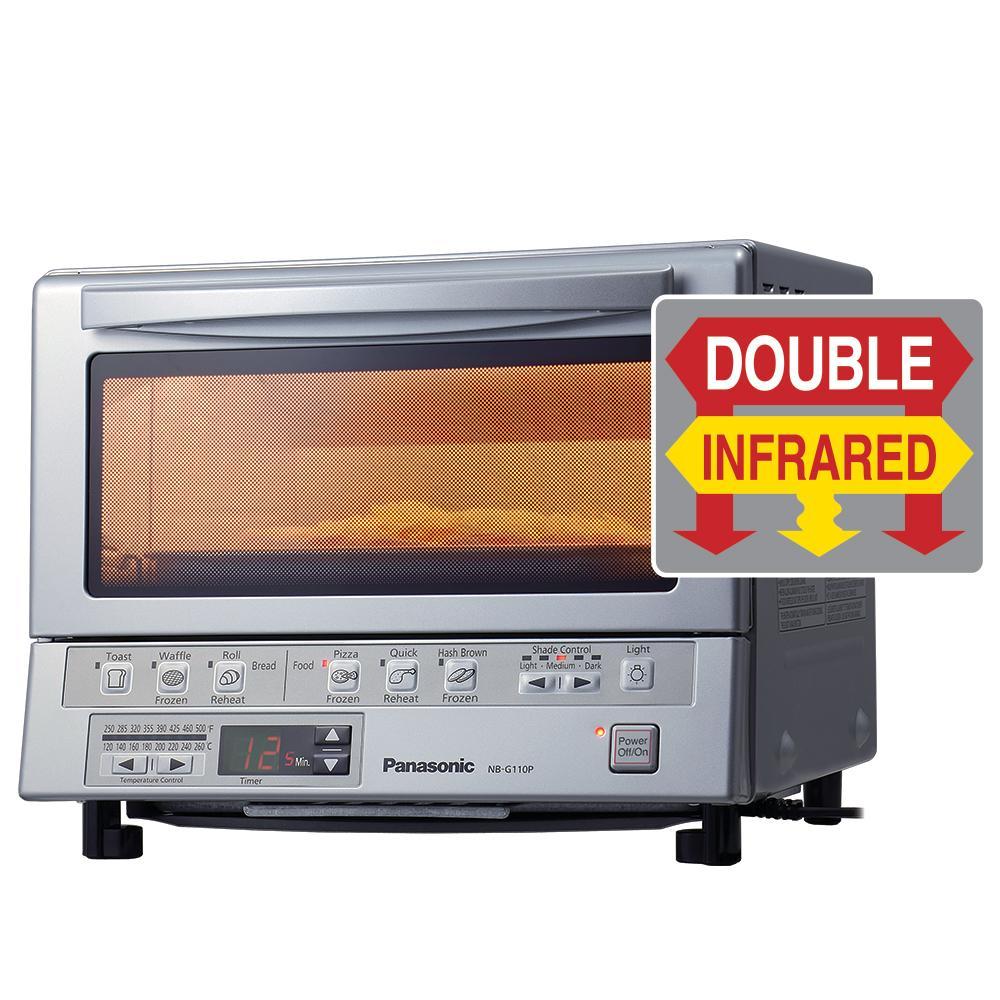 panasonic infrared toaster oven dual slice