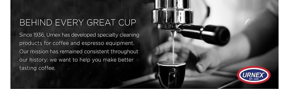 urnex, commercial espresso cleaner