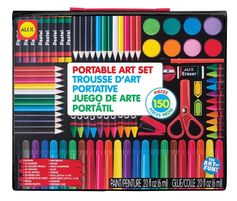 Amazon.com: ALEX Art Portable Art Set: Toys & Games