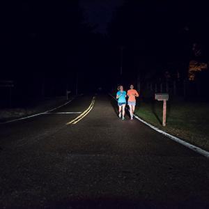 Runners Night Driving Sylvania Headlights