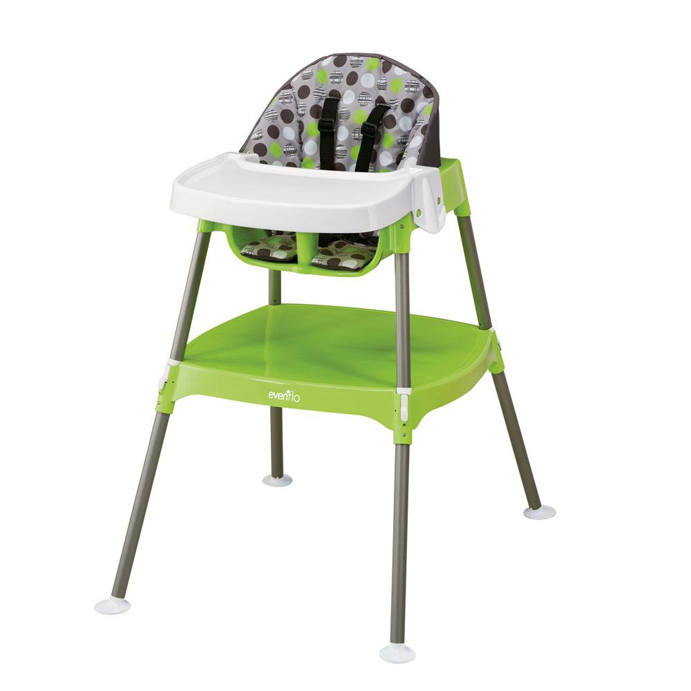 Amazoncom Evenflo Convertible High Chair Dottie Lime Childrens