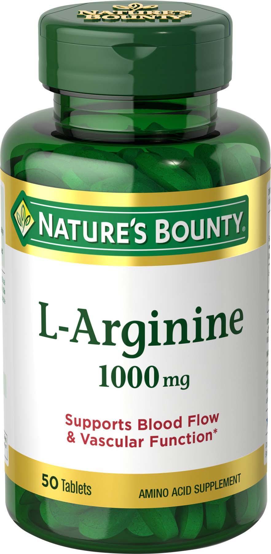 Amazon.com: Nature's Bounty L-Arginine 1000 mg, 50 Tablets ...