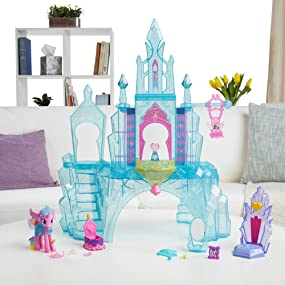 Amazon Com My Little Pony Explore Equestria Crystal Empire Castle Toys Games