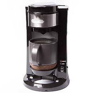 BELLA 14392 Dual Brew Single Serve Coffee Maker, Silver/Black