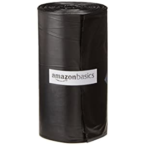 AmazonBasics Dog Waste Bags with Dispenser and Leash Clip, Standard and EPI Additive (meets ASTM D6954-04 Tier 1)