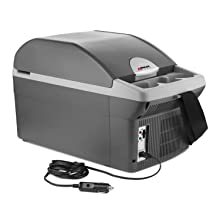 car cooler fridge refrigerator food warmer dc ac powered cold hot warm refer power