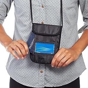 AmazonBasics RFID Travel Neck Stash