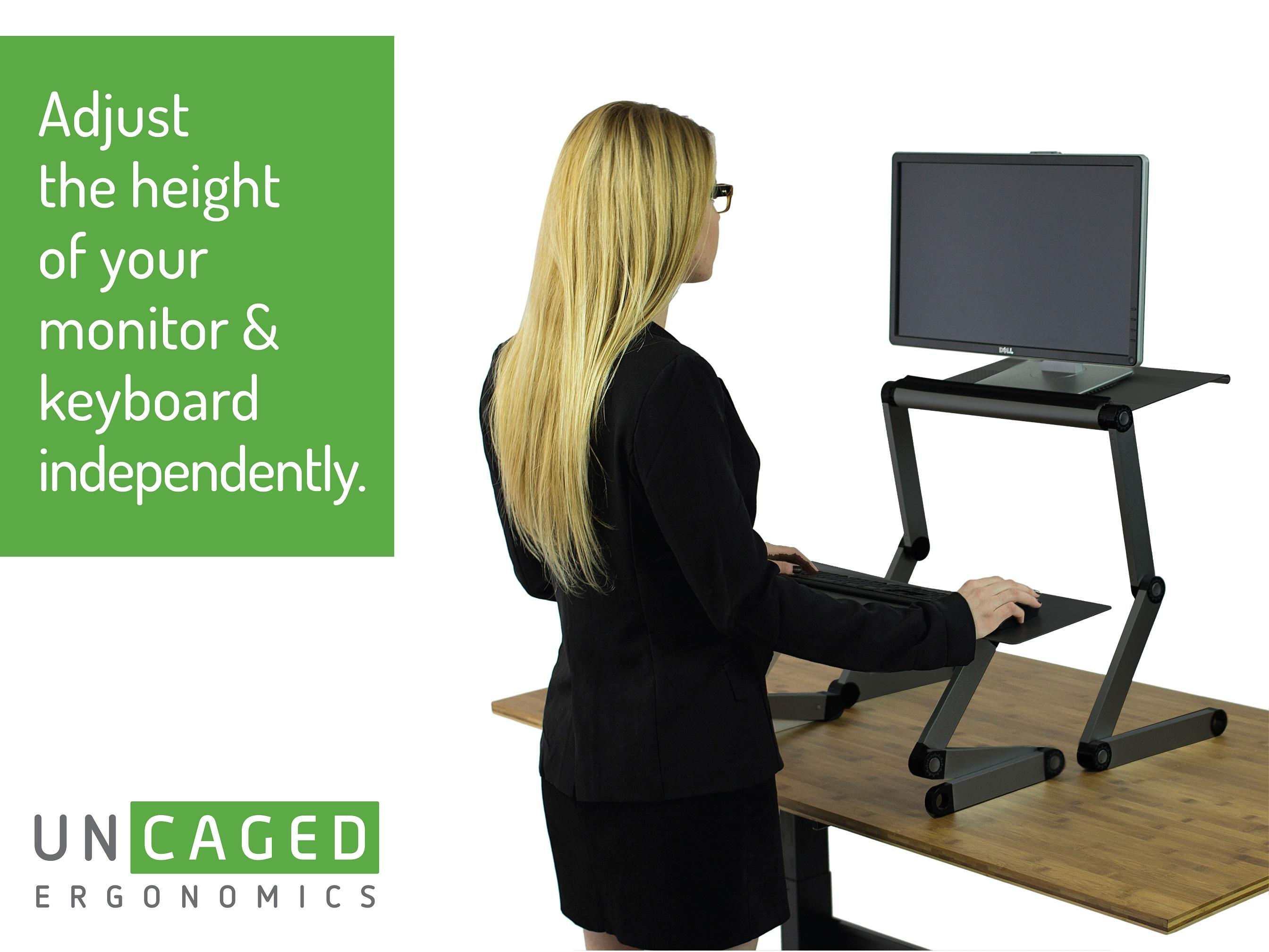 Workez Standing Desk Conversion Kit Affordable Adjustable