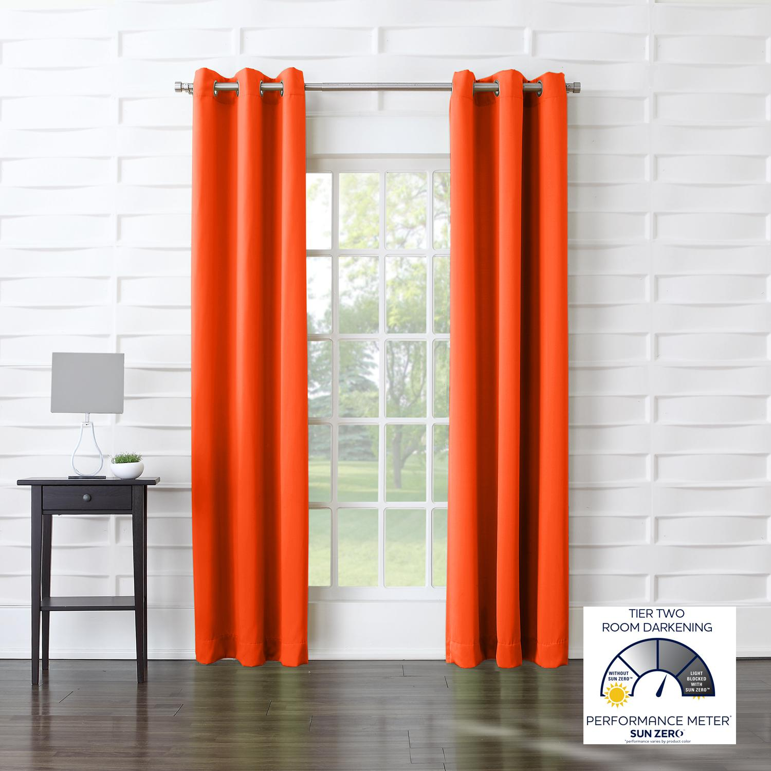 sun grommet becca lengths curtain panel the efficient zero manufacturer drape tangerine drapes amazon from standard com dp energy