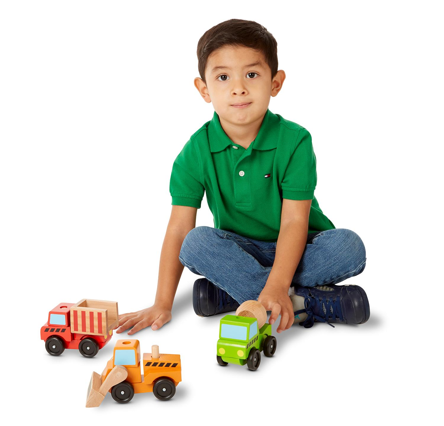 Construction Equipment Toys For Boys : Amazon melissa doug stacking construction vehicles