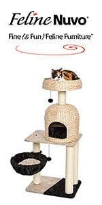 FelineNuvo Reid Wicker Cat Tree