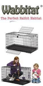 Wabbitat Folding Rabbit Cage