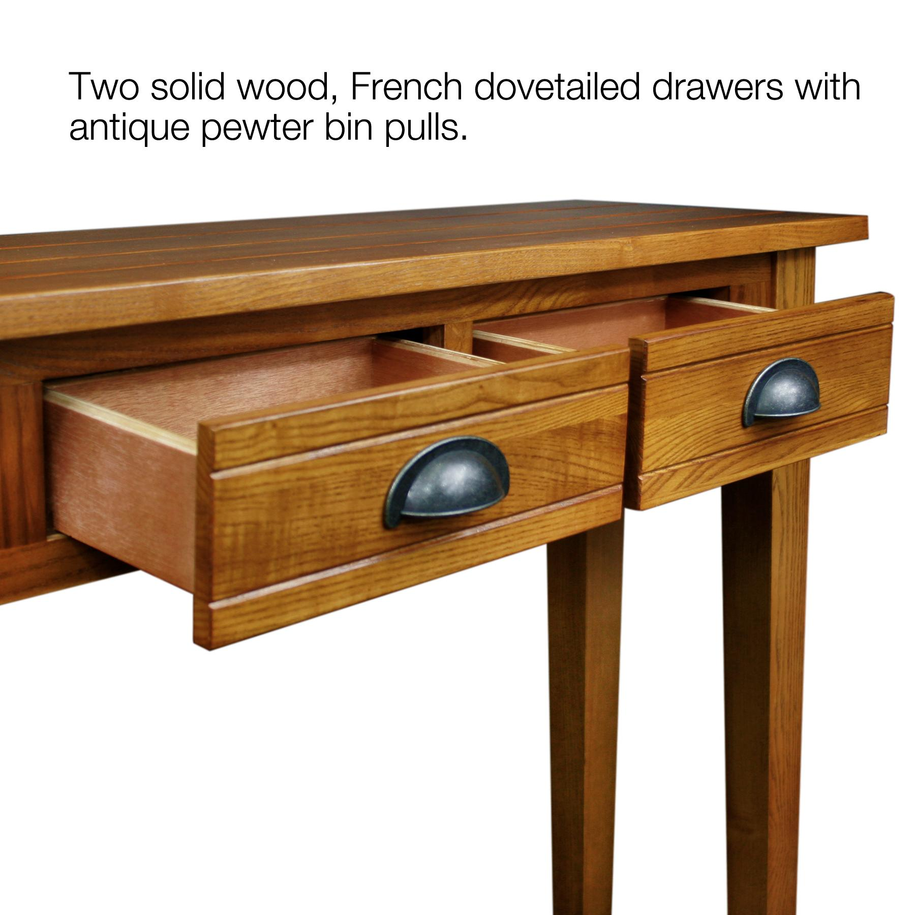 Amazon Com Leick Bin Pull Two Drawer Hall Console Table Candle Glow Kitchen Amp Dining