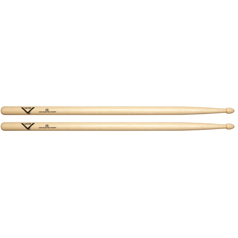 vater 5b wood tip hickory drum sticks pair musical instruments. Black Bedroom Furniture Sets. Home Design Ideas