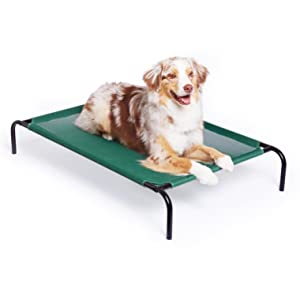 elevated cooling pet bed large