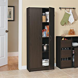 closetmaid 1556 pantry cabinet espresso home kitchen. Black Bedroom Furniture Sets. Home Design Ideas