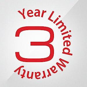 3 Year Limited Warranty