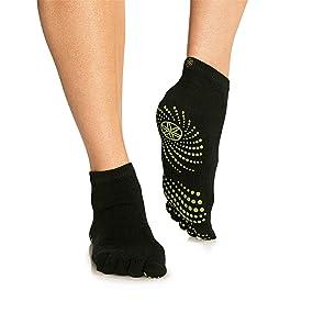 Gaiam Yoga Socks | Toeless Grippy Non Slip Sticky Grip Accessories for Women & Men | Hot Yoga, Pilates, Barre, Ballet, Dance, Home for Balance & ...