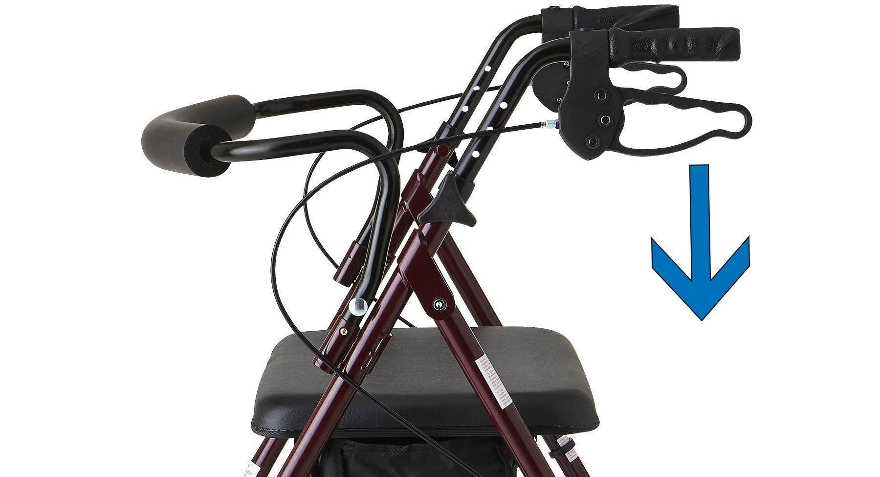 Amazon Com Medline Heavy Duty Rollator Walker With Seat
