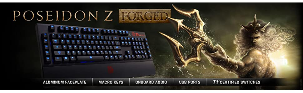 Tt eSPORTS Poseidon Z Forged Wired Aluminum Gaming Mechanical Keyboard