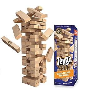 Amazoncom Jenga Giant Premium Hardwood Game Stacks To 3 Feet