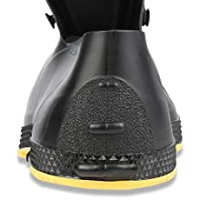 Servus SuperFit 4quot; PVC Dual-Compound Slip-On Men's Overshoes, kick off lugs