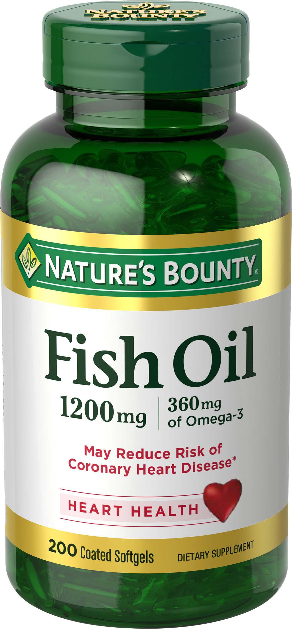 Nature 39 s bounty fish oil 1200 mg odorless 200 for Fish oil good for