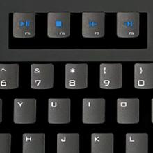 Quick Access Media Keys, Mechanical Keyboard
