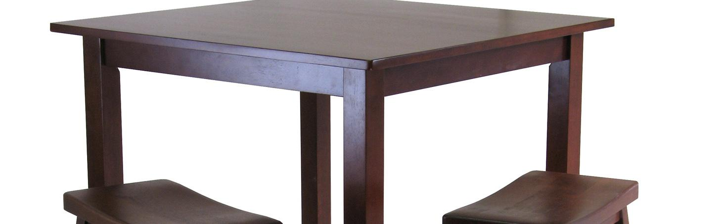 Winsome Wood Parkland 3 Piece Square High Pub Table Set In