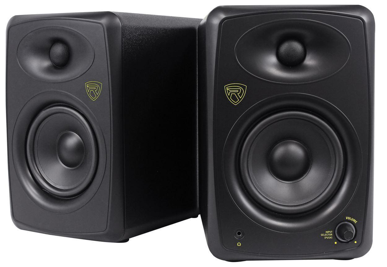 rockville asm5 5 2 way 200w active powered usb studio monitor speakers pair. Black Bedroom Furniture Sets. Home Design Ideas