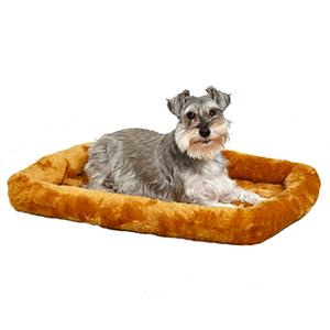 Dog on 30in Cinnamon Pet Bed