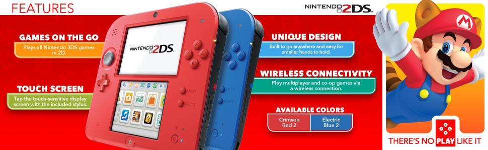 Amazon.com: Nintendo 2DS - Electric Blue with Mario Kart 7 ...