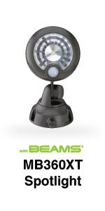 mr beams, mb360xt, wireless led spotlight, motion security spotlight, battery powered spotlight
