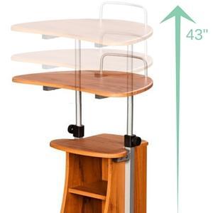 Amazon Com Techni Mobili Adjustable Height Laptop Cart