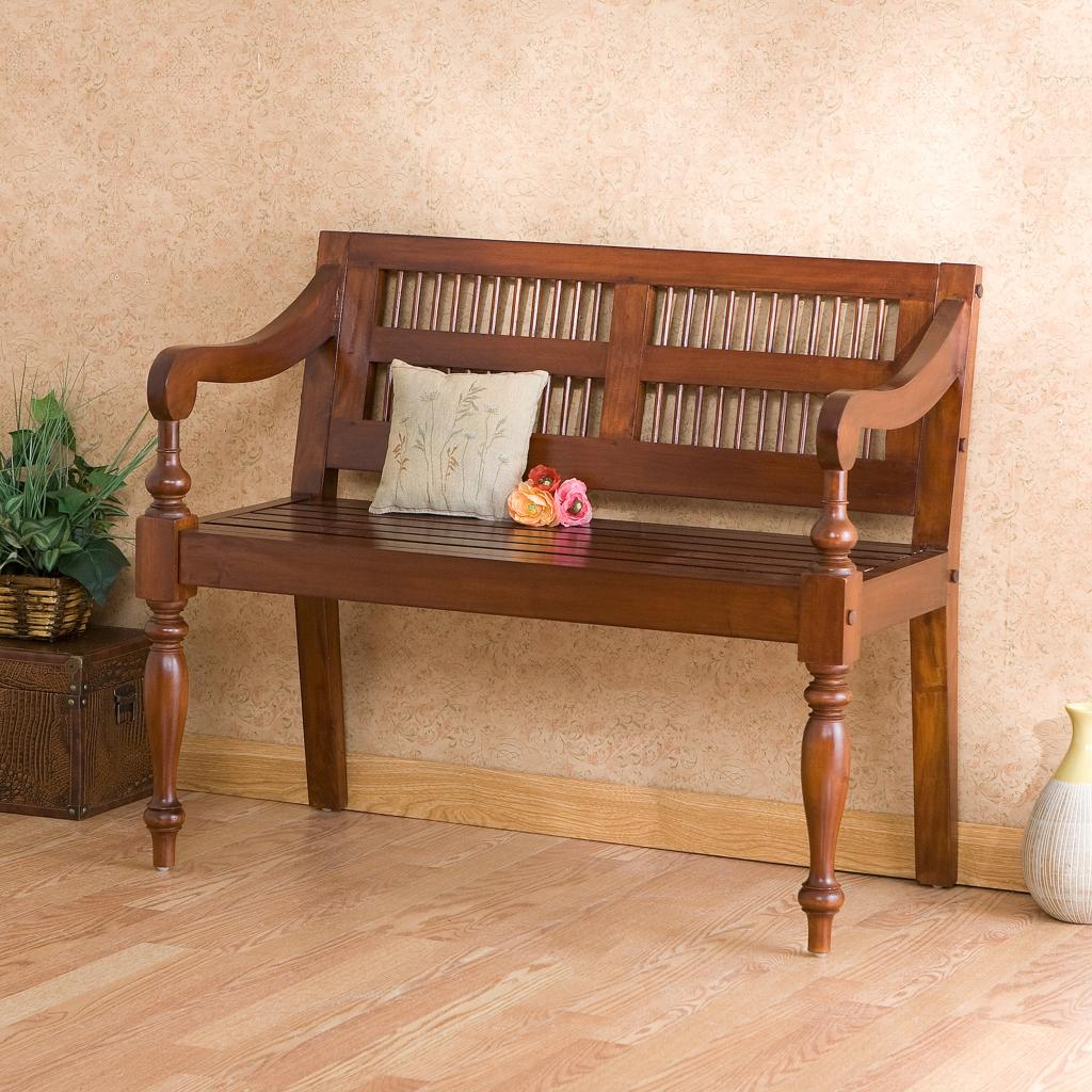 Kitchen Bench Finishes: Amazon.com: Southern Enterprises Classic Entryway Bench