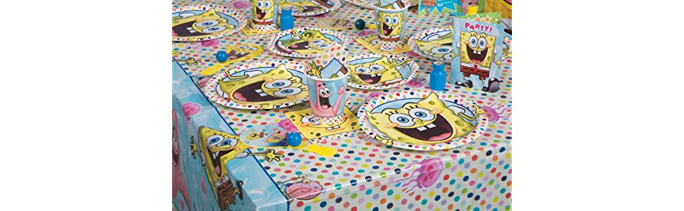 Pack of 23 Paper Silly Spongebob Party Table Decorating Kit