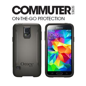 online retailer 86377 bbf41 Otterbox COMMUTER SERIES for Samsung Galaxy S5 - Retail Packaging - Black