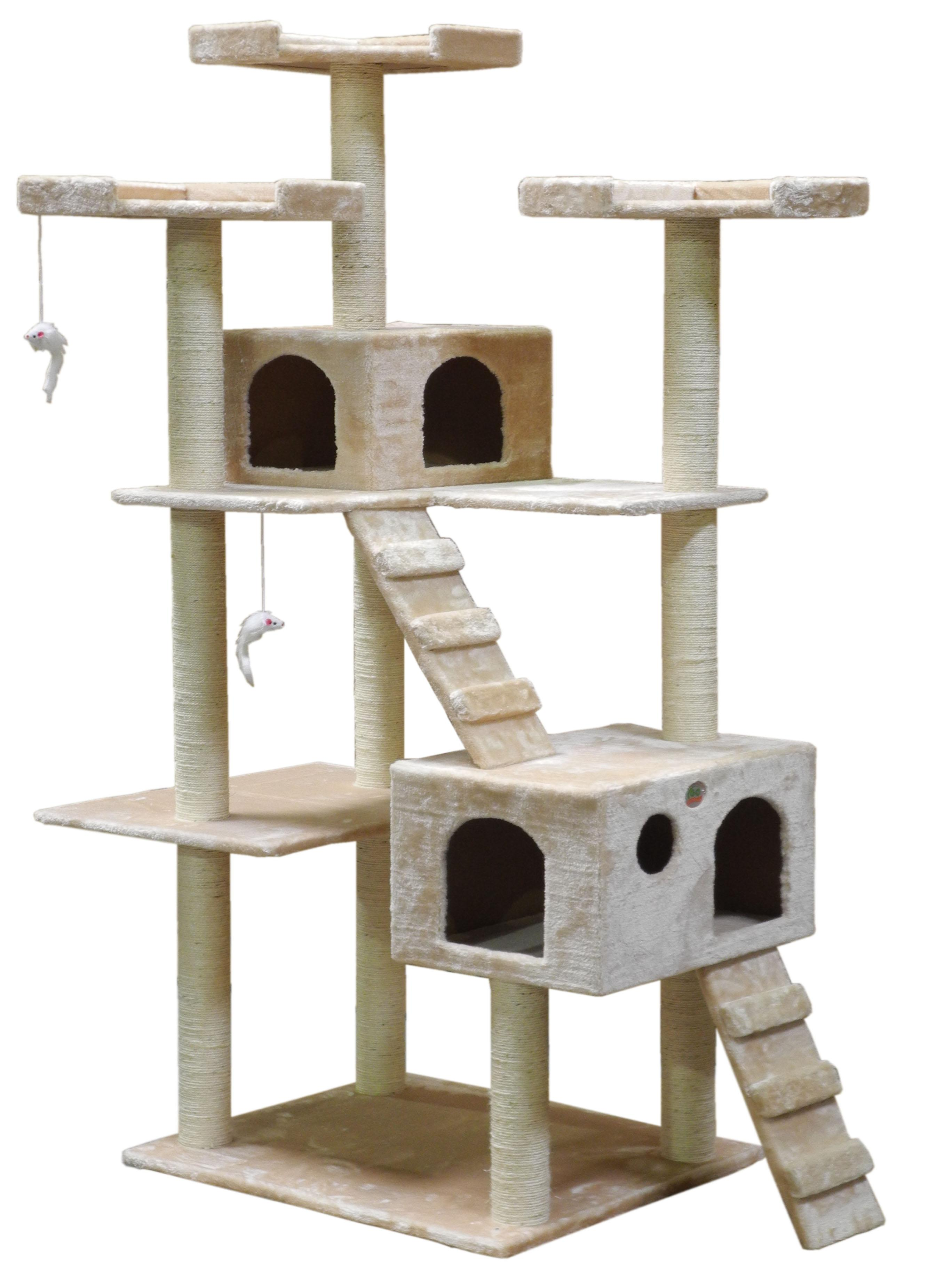 go pet club fbeige inch cat tree beige amazonca pet  - cat tree tower condo furniture scratcher