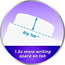 Avery Big Tab Dividers, bigger tabs, more writing space