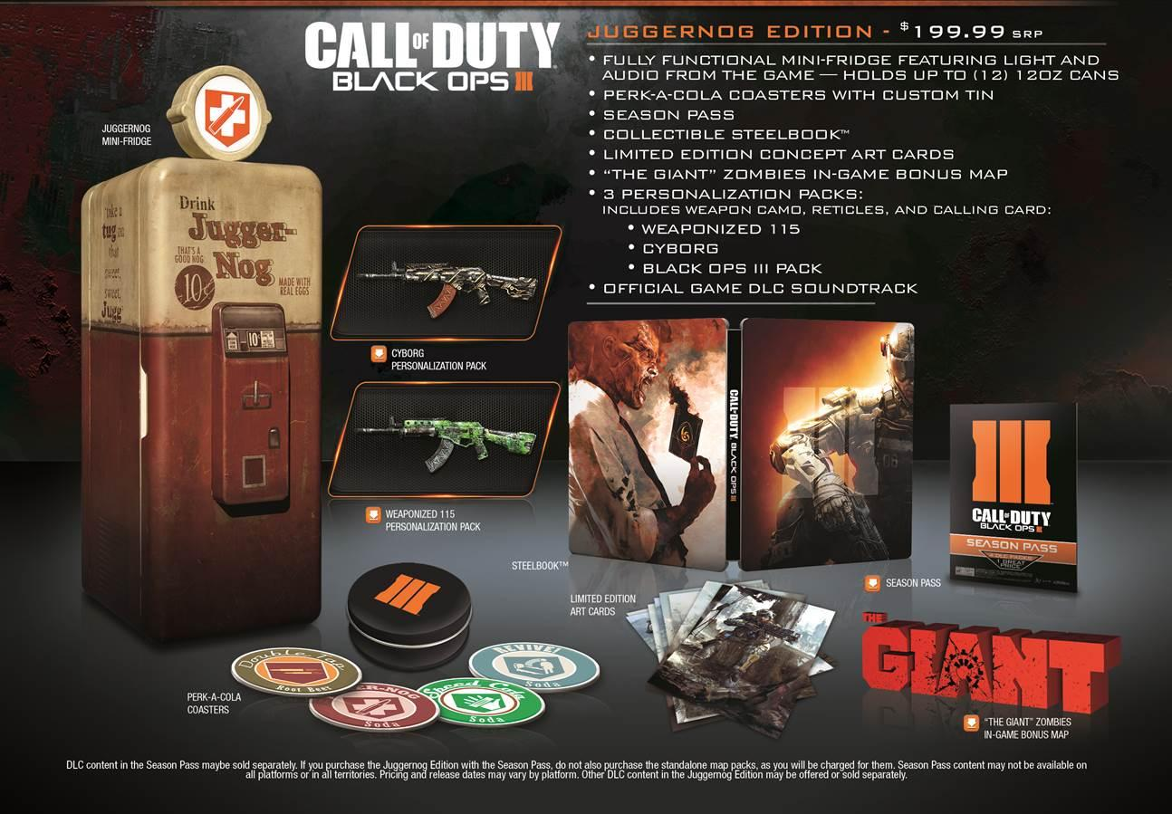 Amazon Com Call Of Duty Black Ops Iii Juggernog Edition Xbox