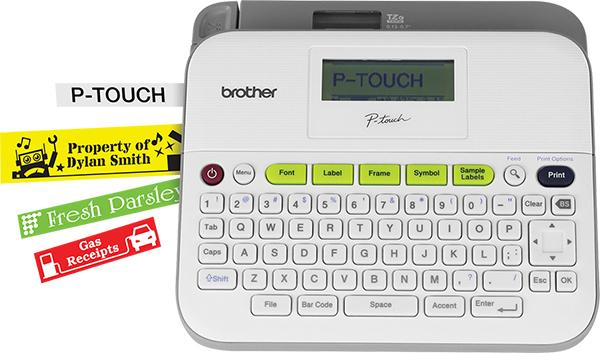 Versatile Easy-to-Use Labeler PTD400AD Brother P-touch Label Maker AC