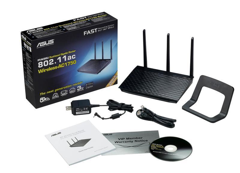 Asus Ac1750 Rt Ac66u Dual Band Wireless Gigabit Router border=