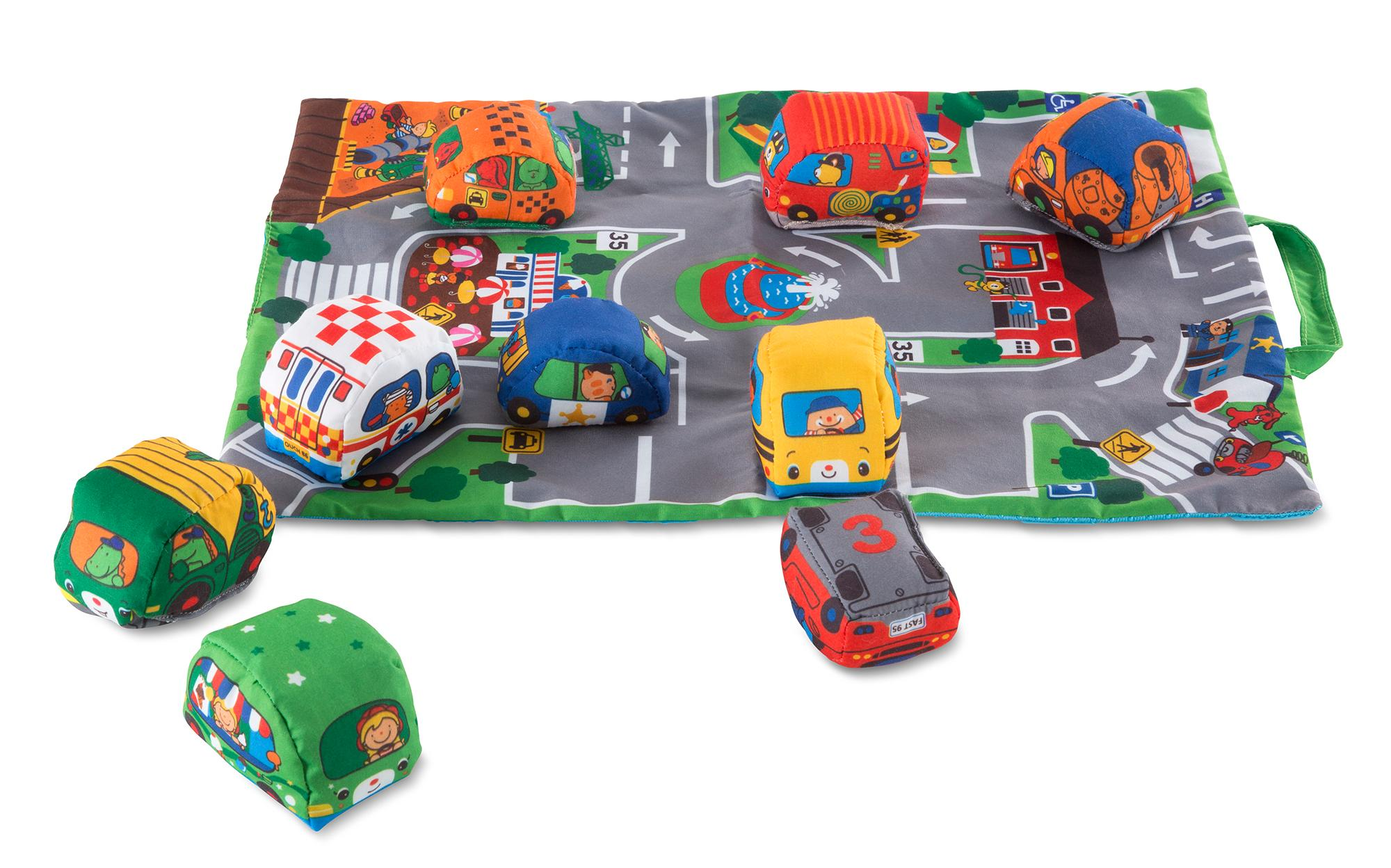 Melissa & Doug Take Along Town Play Mat 48 90 x 36 20 cm With 9