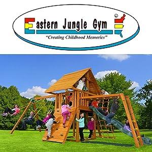 Eastern Jungle Gym Wooden Swing Sets for Kids