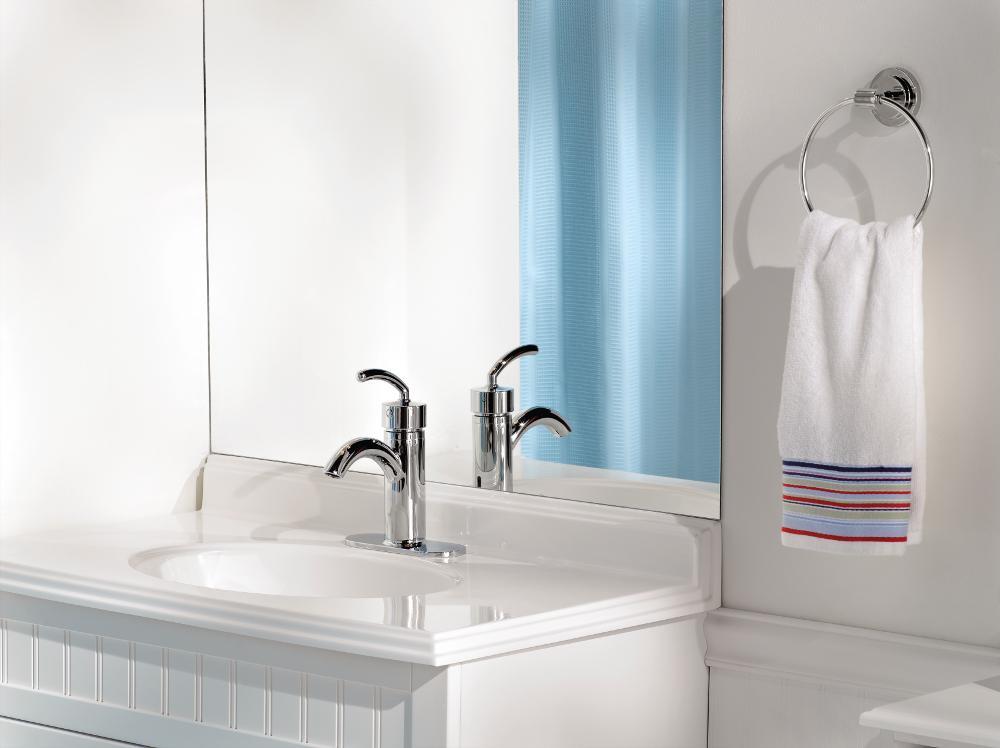 Moen DN0786CH Iso Bathroom Towel Ring, Chrome - Iso - Amazon.com