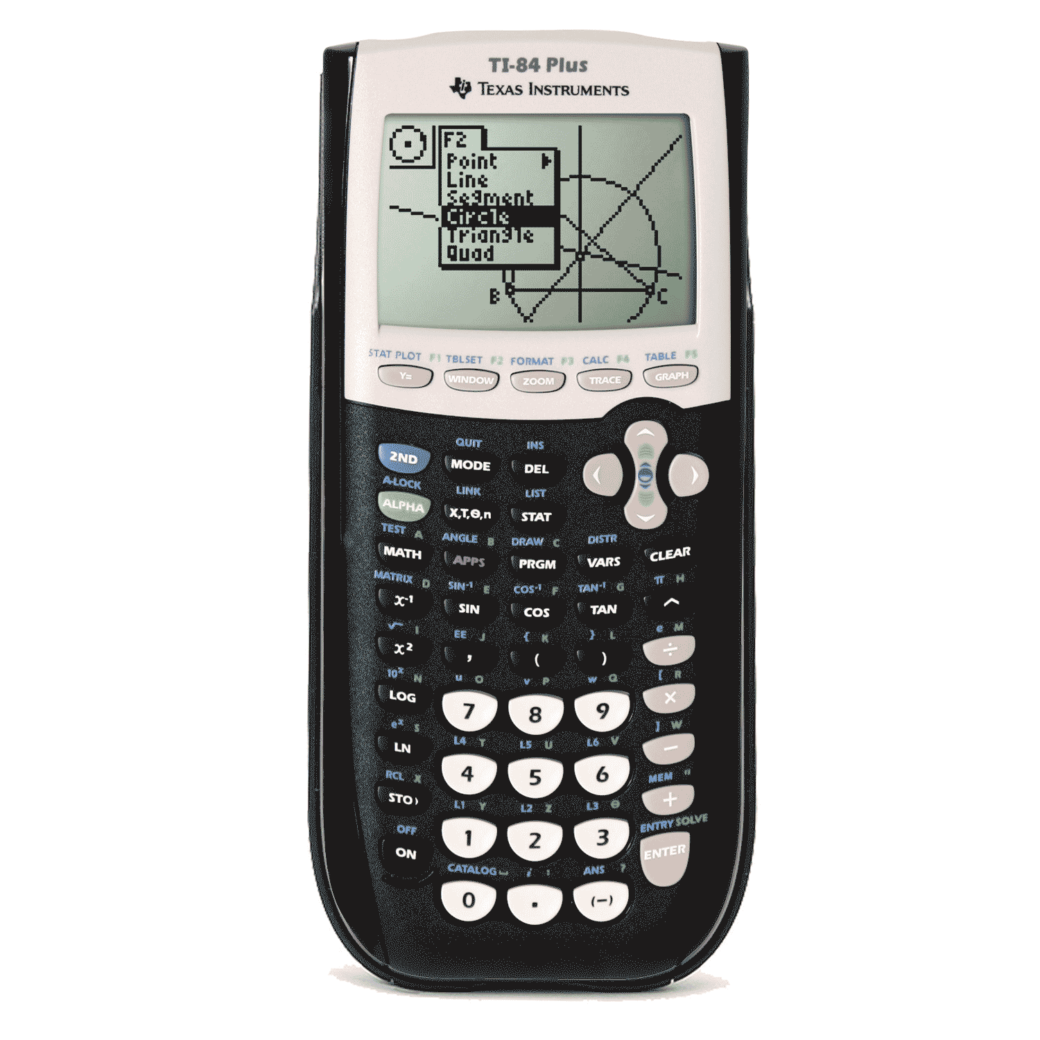 Ti 84 plus texas instruments or ti 84 silver edition.