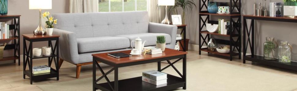 Convenience Concepts Oxford A Frame Bookshelf White 203060W