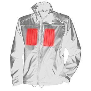 Bosch Mens 12-Volt Max Lithium-Ion Soft Shell Heated Jacket Kit with 2.0Ah Battery Charger and Holster PSJ120S-102