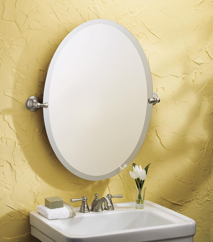 Moen Sage Bathroom Oval Tilting Mirror
