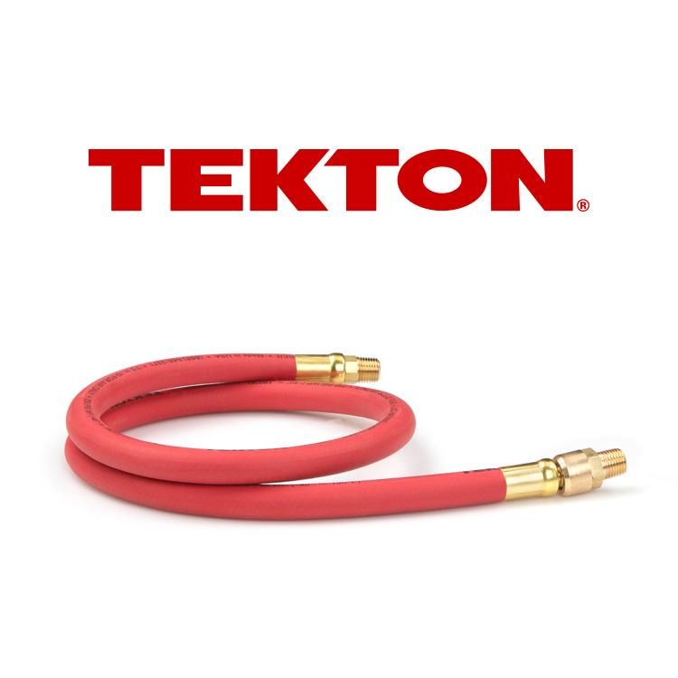 by 10-Foot 250 PSI Rubber Whip Air Hose with 1//4-Inch MPT Swivel End Michigan Industrial Tools TEKTON 46348 3//8-Inch I.D